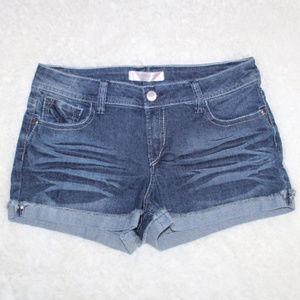 💵 No Boundaries Cuffed Frayed Denim Shorts